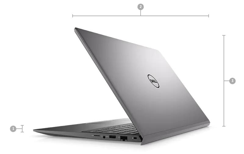 Laptop Dell Vostro 155502Core i5-1135G7 Ram 8GB SSD 256GB (70231340 - Vintage Gray)